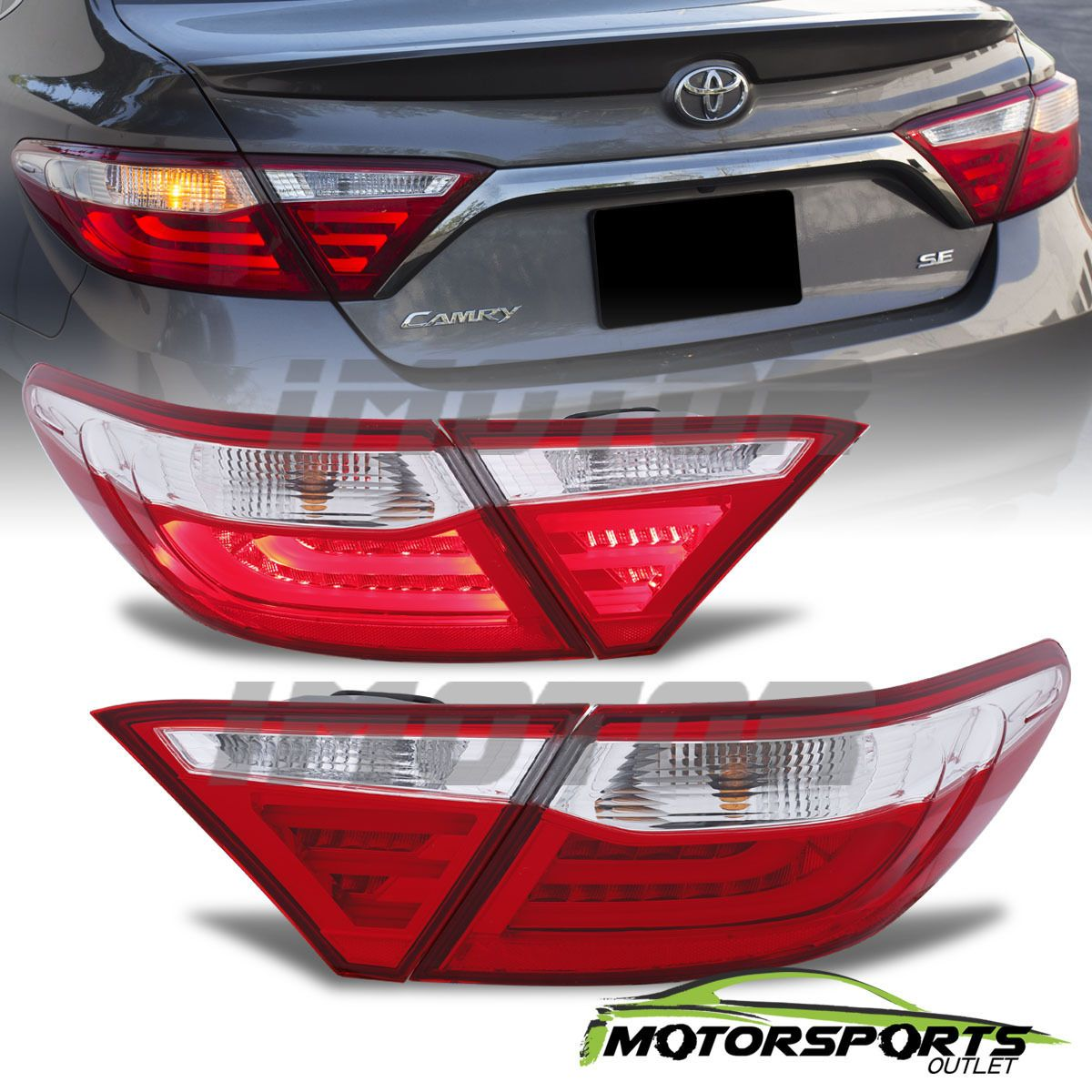 Nice Amazing 2015 2016 Toyota Camry Red Sedan 4Dr Red Clear Rear ...