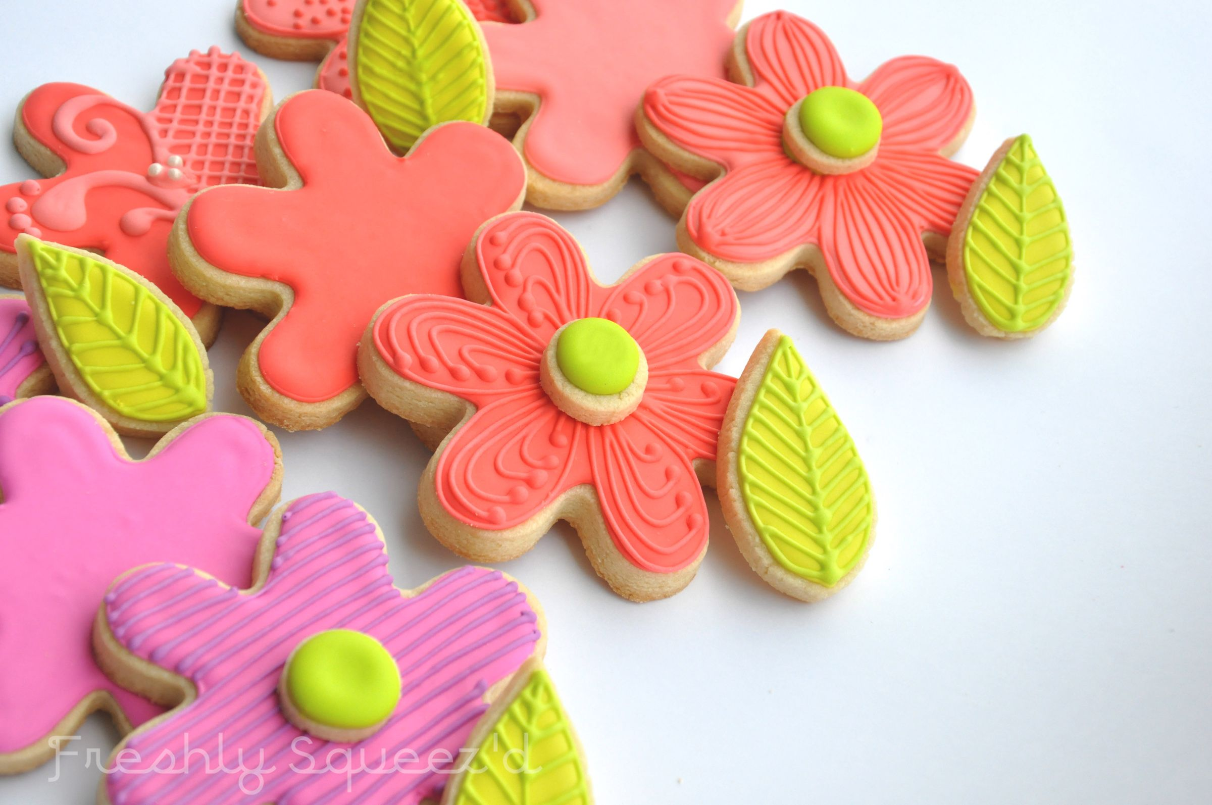 Spring Coloured Sugar Cookie Flowers For The Lovely Jordan