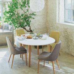 Table De Repas Ronde D120cm Avec Allonge