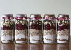 Christmas gifts? Cookies in a jar.