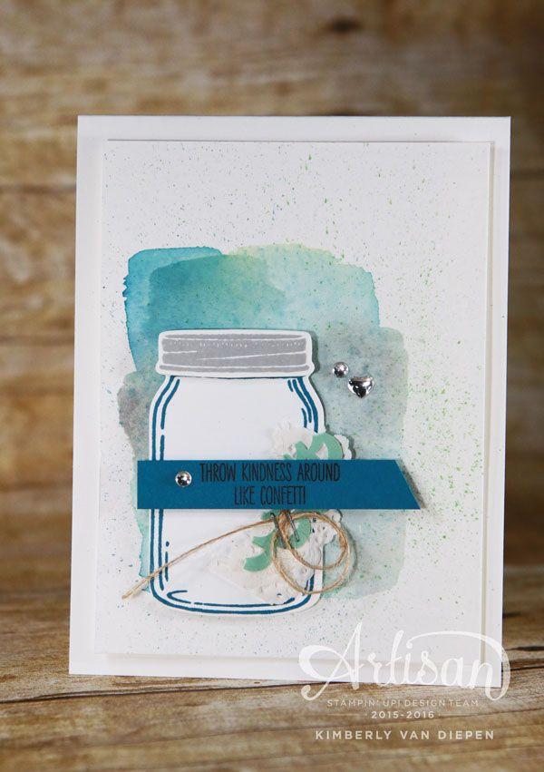 Jar of Love stamp set from Stampin' Up! has abundance of possibilities for stamping projects.  - StampinByTheSea.com