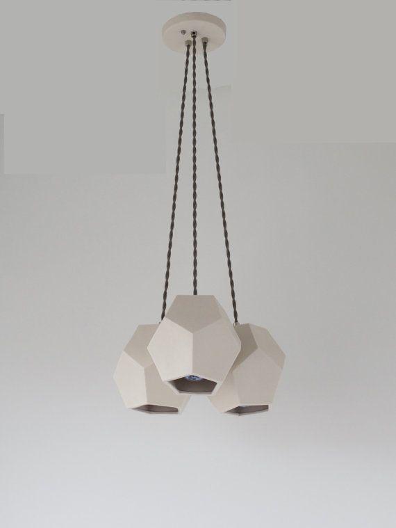Hexagon trio chandelier translucent porcelain ceramic lighting draft translucent white porcelain gives this three socket hexagonal chandelier a subtle modern flair aloadofball Gallery