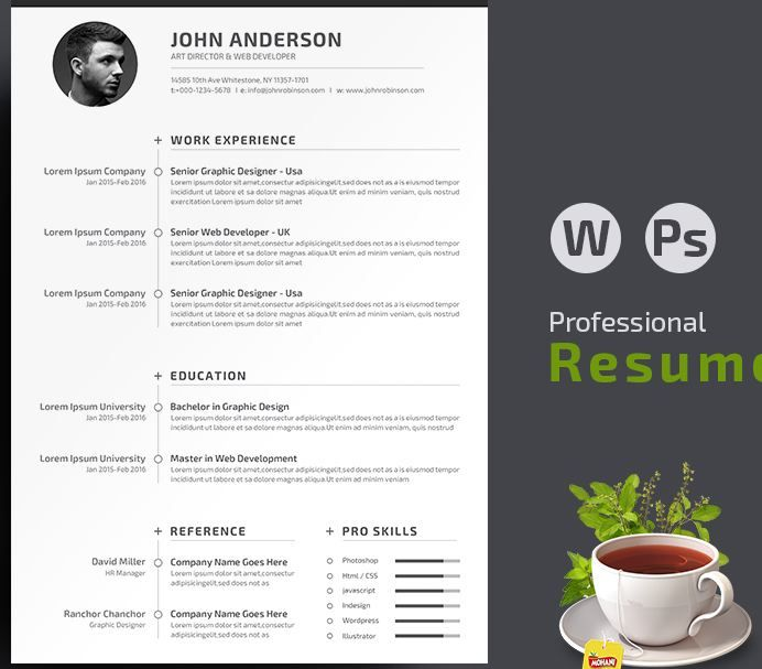 Interesting And Simple Resume/Cv Templates Http://Textycafe.Com