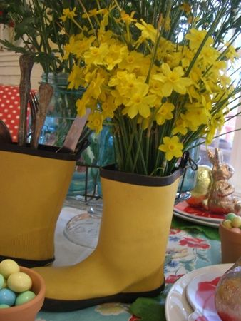 Yellow rain boots... by tinalee56, via Flickr
