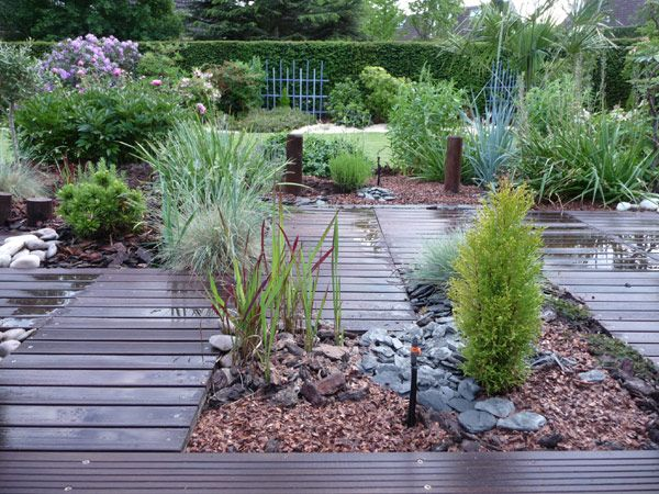 Plantes Paillage Jardin Jardin Mineral Amenagement Jardin