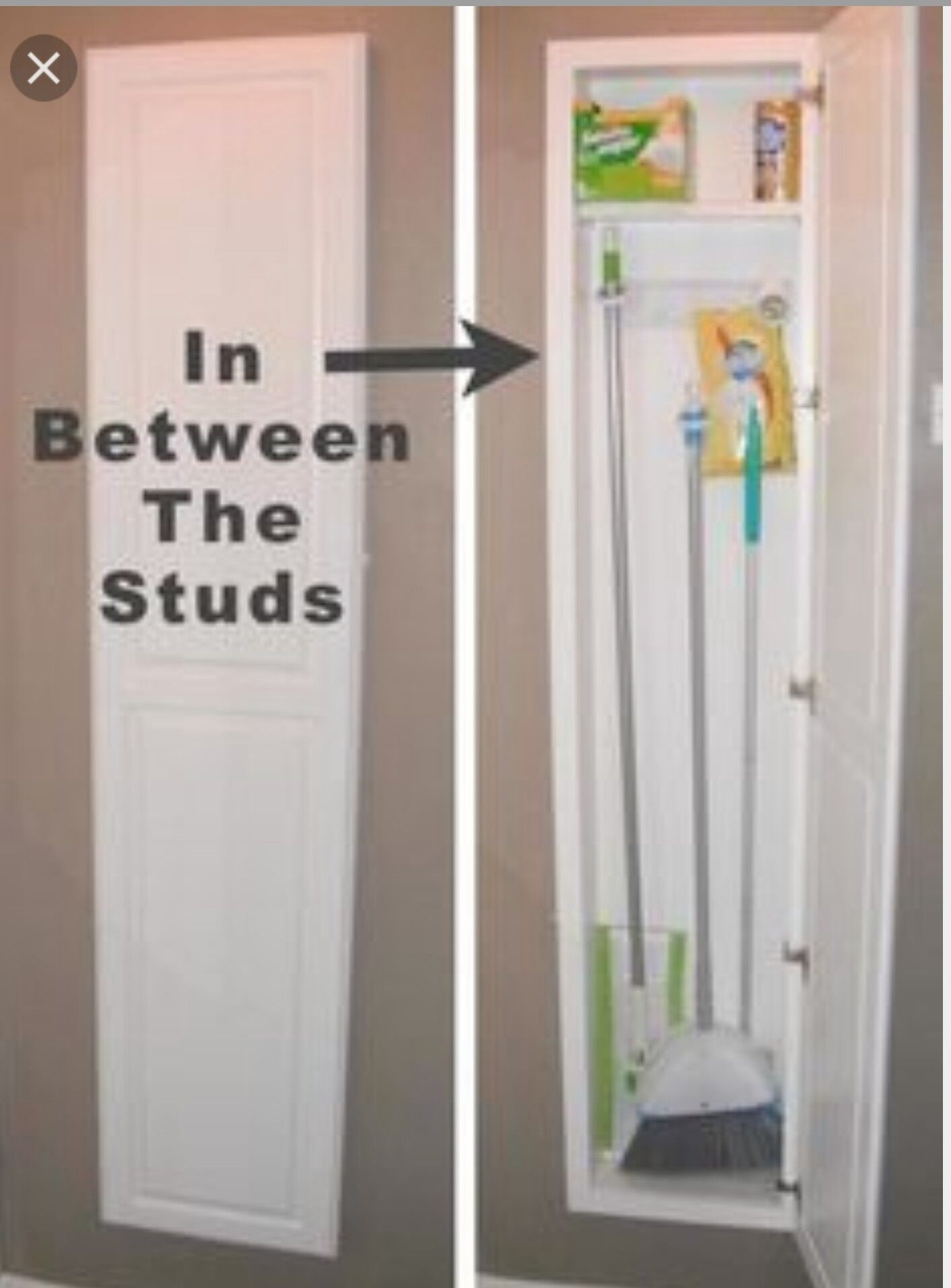 Built In Between Studs Small Space Hacks Home Projects Home Diy