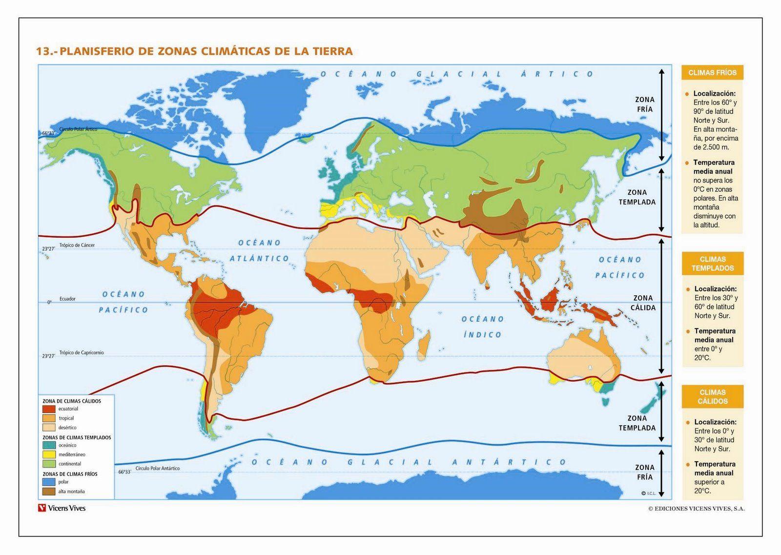 Los diferentes climas del mundo Mapa mundial climtico  climas