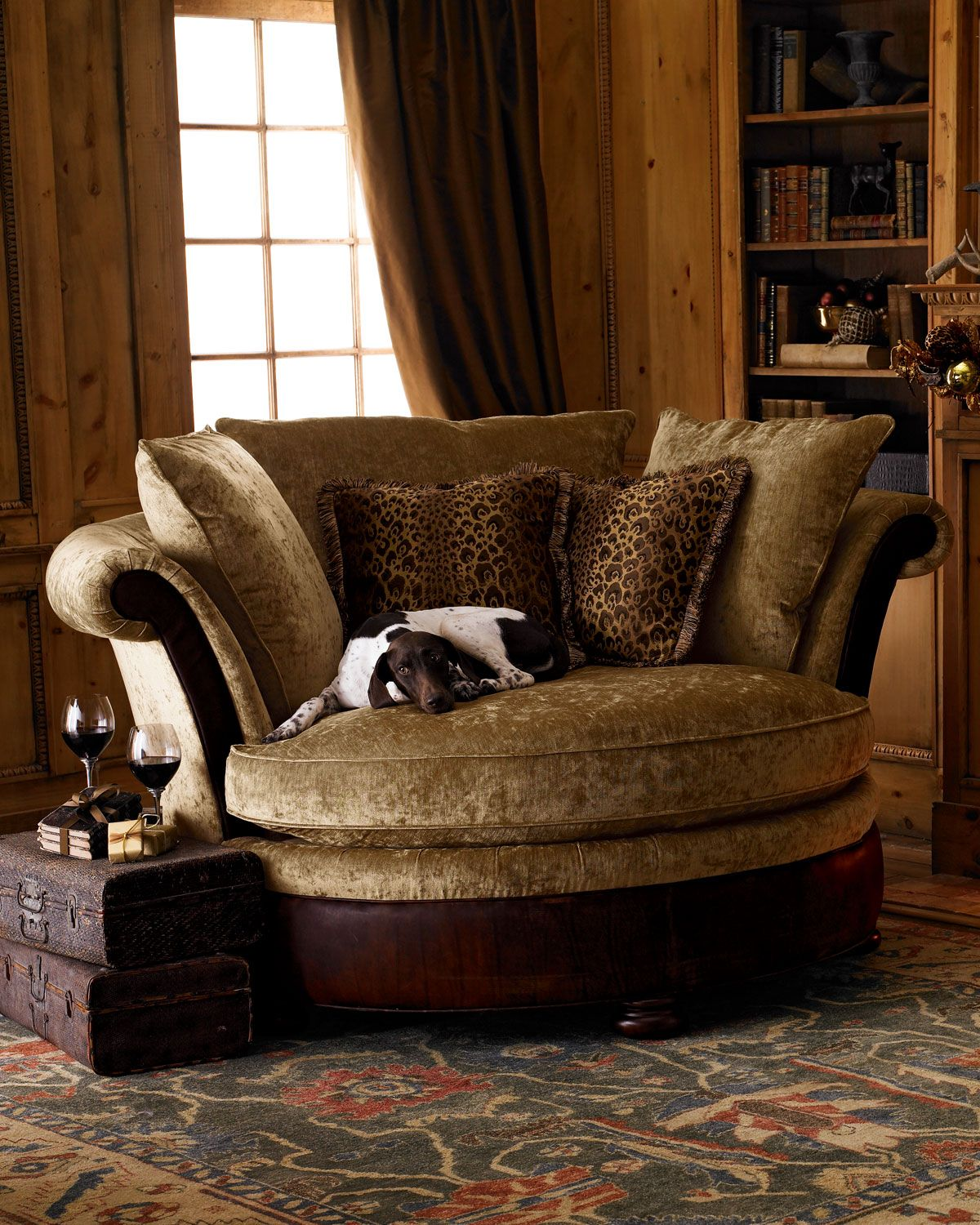 Furniture Modern Howchow Furniture Design For Cozy Home: Massoud Cocoa Wildlife Cuddle Chair