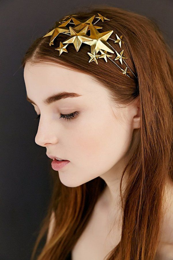 Starry Night Headband - perfect for a New Years Eve party! #NYE