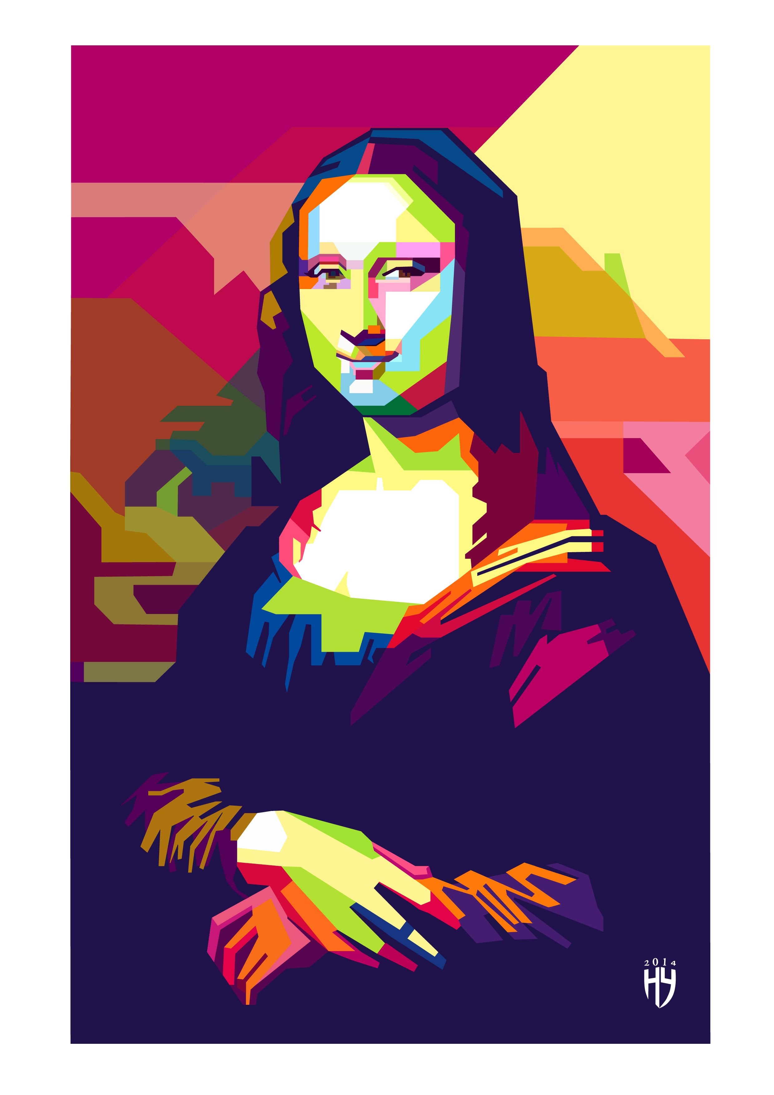 mona lisa   wpap pop art   Pinterest   Mona lisa, Mono y Divergente