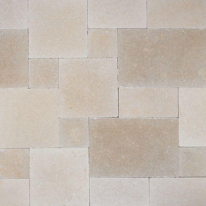 Salem Grey Natural Stone Limestone Tumbled Lyon Tile