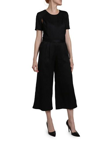 Katharine Kidd Langley Cropped Jumpsuit Women's Black 4