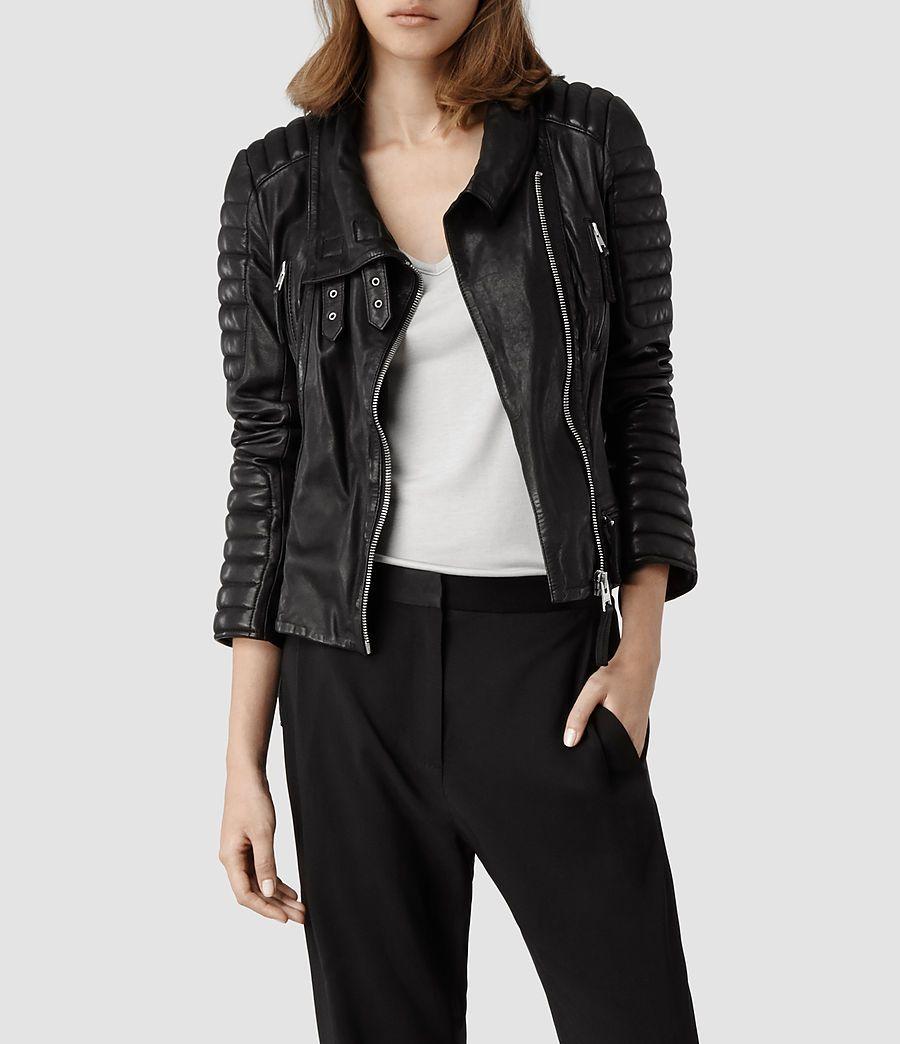Allsaints Steine Biker Jacket Womens Biker Jackets Womens Biker Jacket Leather Jackets Women Jackets For Women [ 1044 x 900 Pixel ]