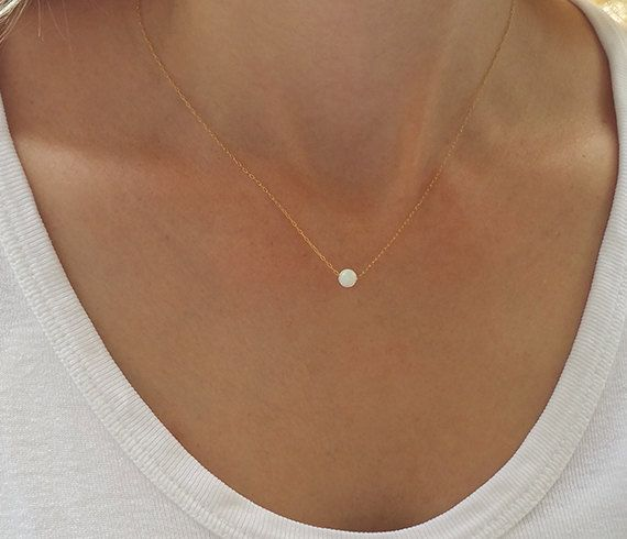 Delicate Diamond Bar Necklace Gold