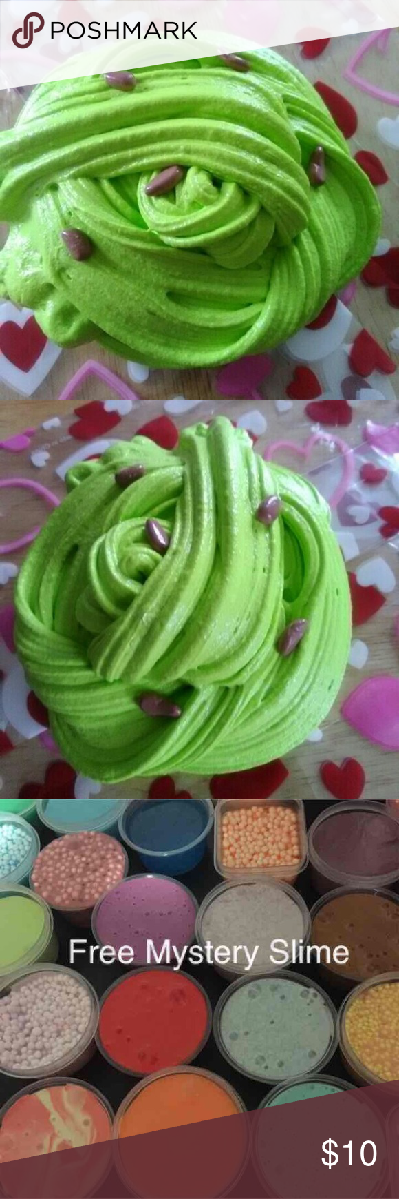 Whipped Pistachio Slime Whipped Pistachio Slime 5 oz   •Super stretchy •Includes a free Mystery Slime or Floam, slime actIvator and containers Accessories