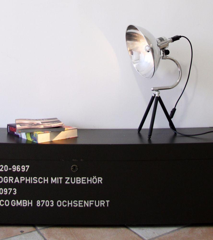 Tripod Steh Tisch Arbeits Arzt Lampe Foto Stativ Vintage