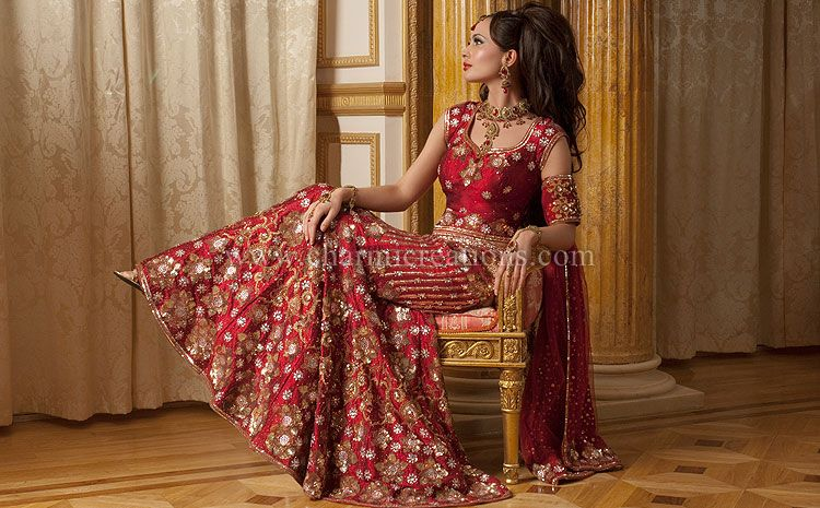 ff320e5e2 Indian Bridal Wear, Asian Wedding Dress, Designer Bridal Lenghas,  Traditional Indian Bride Outfit, London, UK