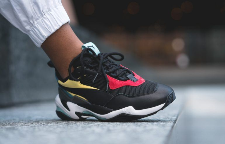 PUMA THUNDER SPECTRA BLACK RED YELLOW MULTICOLOR 367516 01  41411f82e