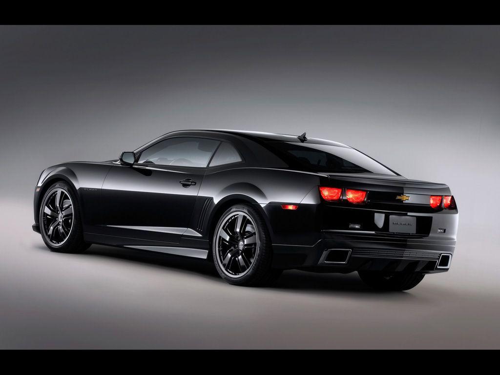 Chevrolet camaro black concept high resolution image of