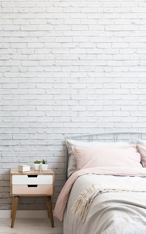 White Brick Wallpaper Mural Murals Wallpaper In 2020 White Brick Wallpaper Bedroom Brick Wallpaper Bedroom White Brick Wallpaper