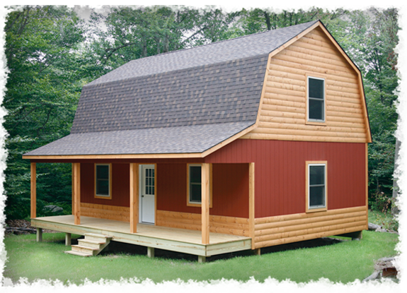 Small cabin loft plans hammond cabins house plans i for Gambrel barn house plans