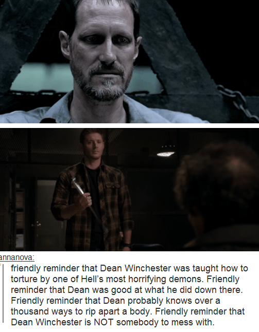 Friendly Reminder That Dean Is A Loving And Caring Brother Son Friend Would Sacrifice Himself In Heartbeat To Save Another