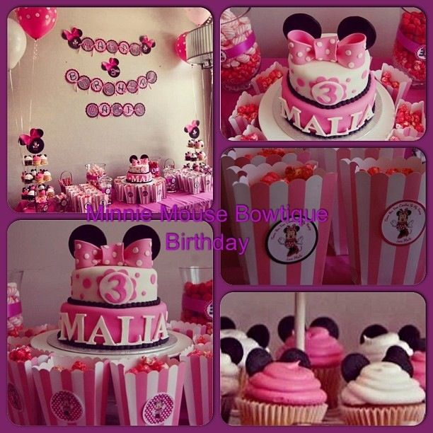 Had So Much Fun Creating The Minnie Mouse Bowtique Birthday Party Theme For My Little One