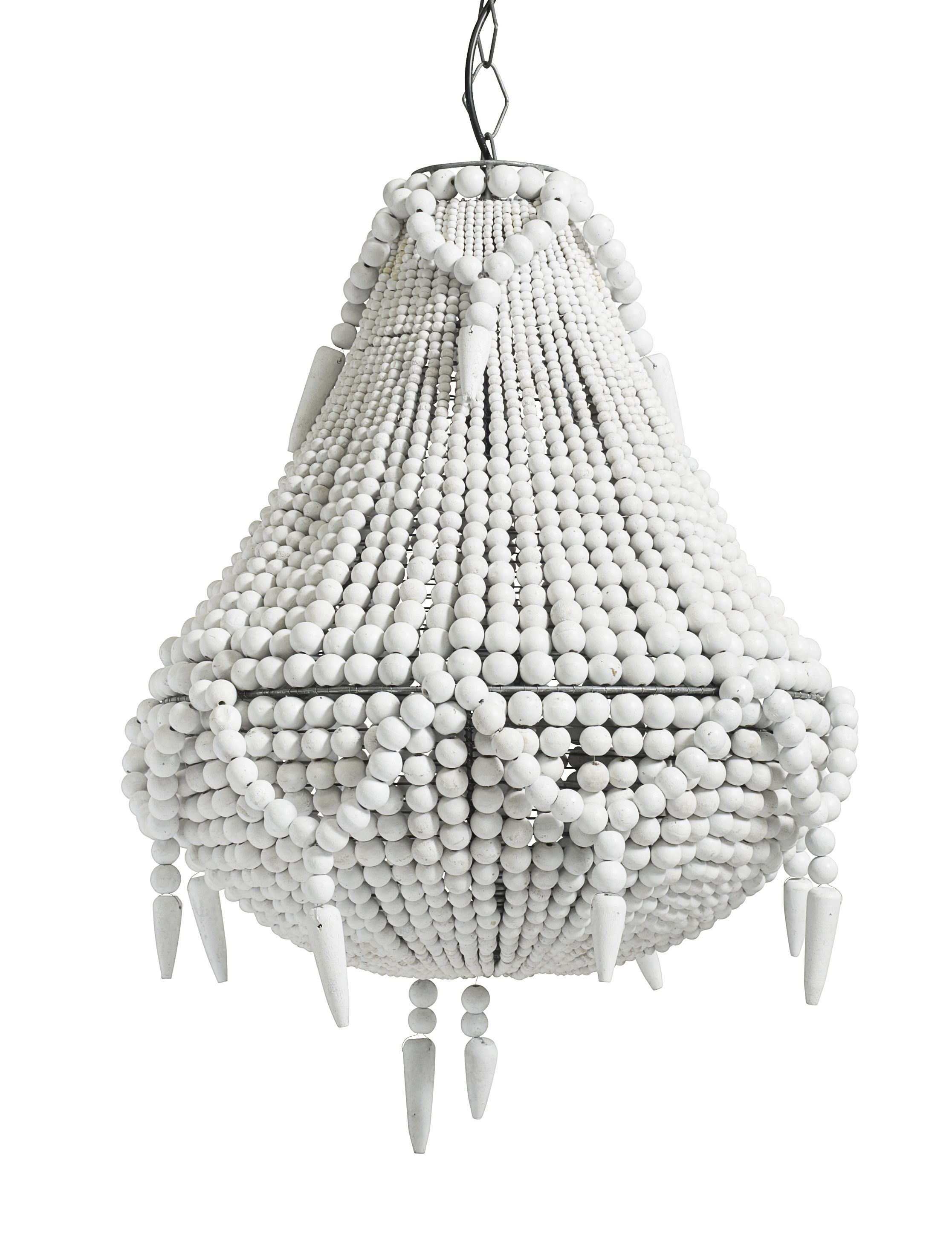 Lampa z koralikw drewnianych biaa loft more beads lampa z koralikw drewnianych biaa loft more pearl chandelierchandelierswooden arubaitofo Image collections