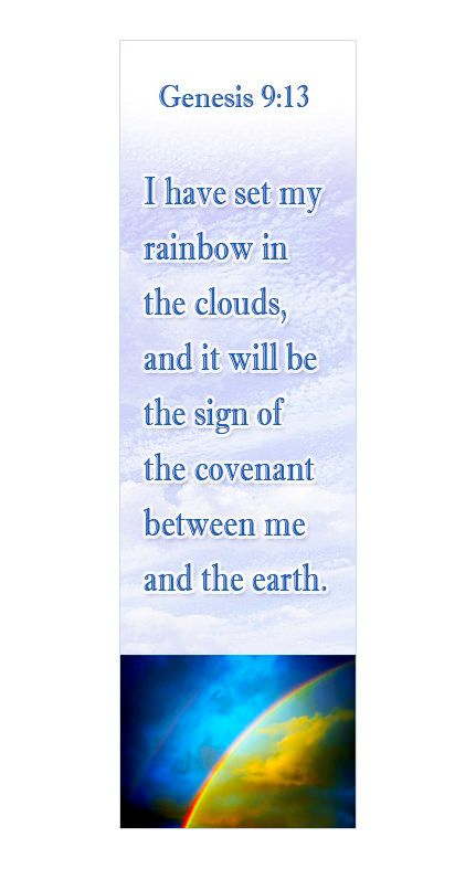 Genesis 9 13 Christian Bookmark Christmas Gift Ideas