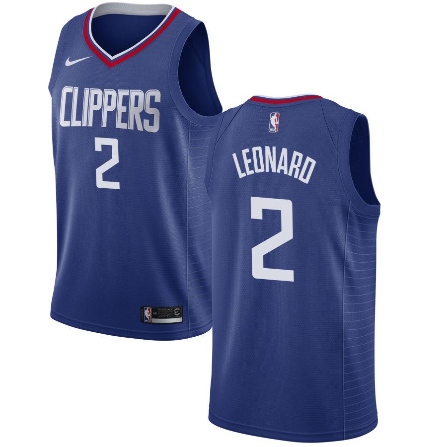 Men\'s Los Angeles Clippers #2 Kawhi Leonard Blue Nike Swingman