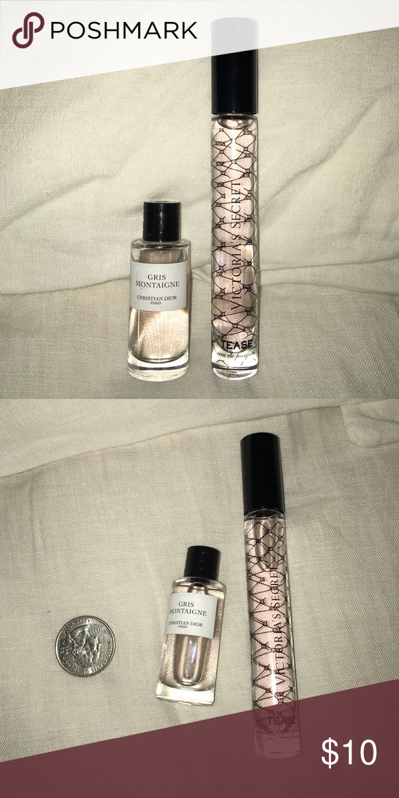 2 Travel Size Perfume Dior Vs Gris Montaigne Heart Notes