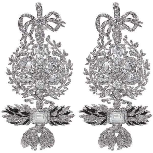 Preowned Large Diamond Order Of The Golden Fleece Costume Jewelry 2 000 Liked On Polyvore Featuring Earrings Chandelier