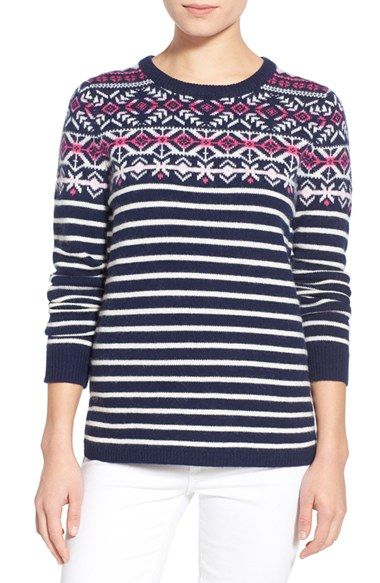 Vineyard Vines Stripe Fair Isle Sweater available at #Nordstrom ...