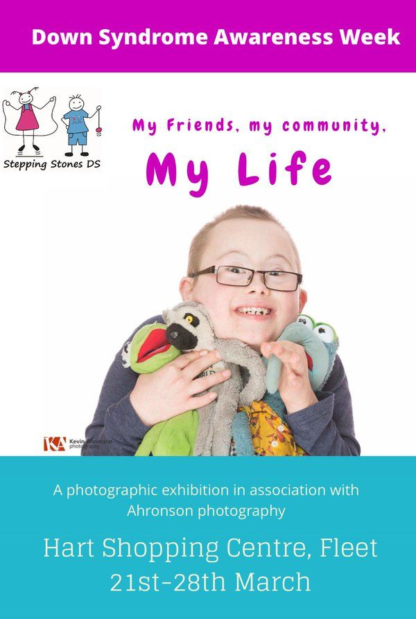 Stepping Stones DS photographic exhibition for Down Syndrome Awareness Week 2016