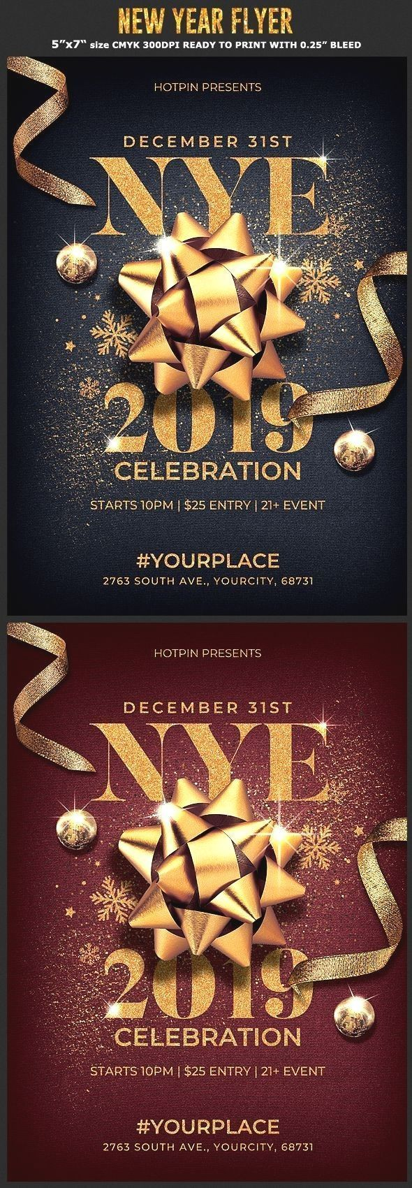 New Year Eve Flyer Invitation New Year Flyer Invitation