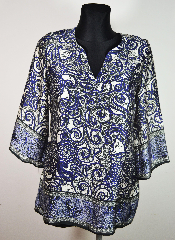 Satynowa Bluzka Orientalny Wzor F F R 38 3675200668 Oficjalne Archiwum Allegro Fashion Women S Top Tops