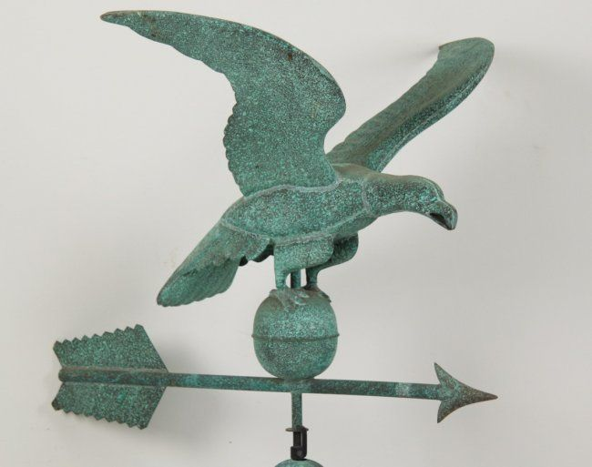 FULL BODIED EAGLE COPPER WEATHER VANE : Lot 189