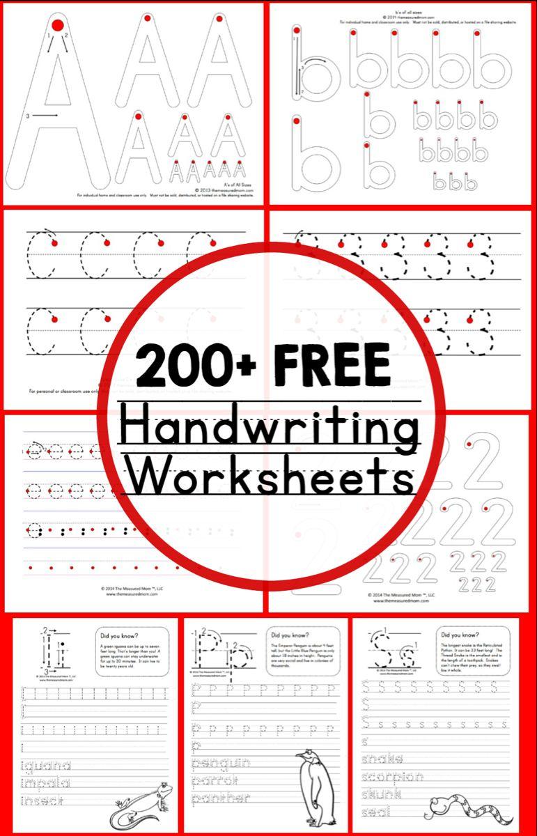 Teaching Handwriting Free Printable Handwriting Worksheets Free
