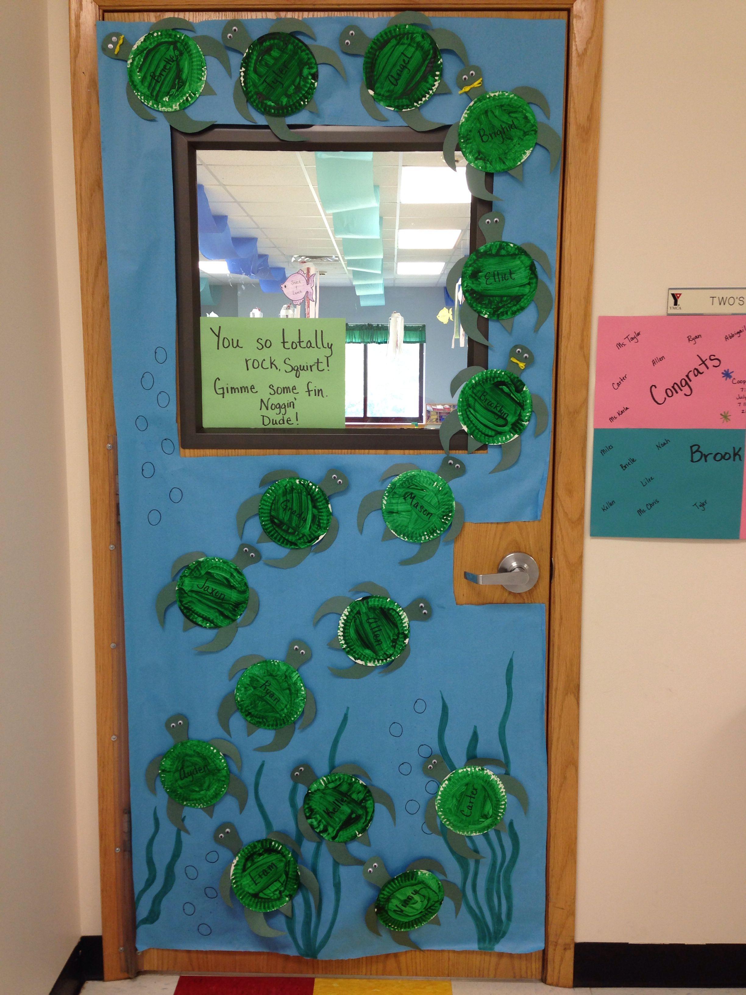 Ocean Decoration For Classroom : Ocean themed classroom paper plate sea turtle door