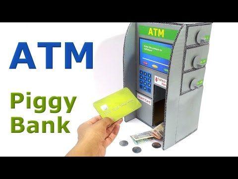 How to Make Piggy Bank ATM Machine at Home | DIY Craft for ...