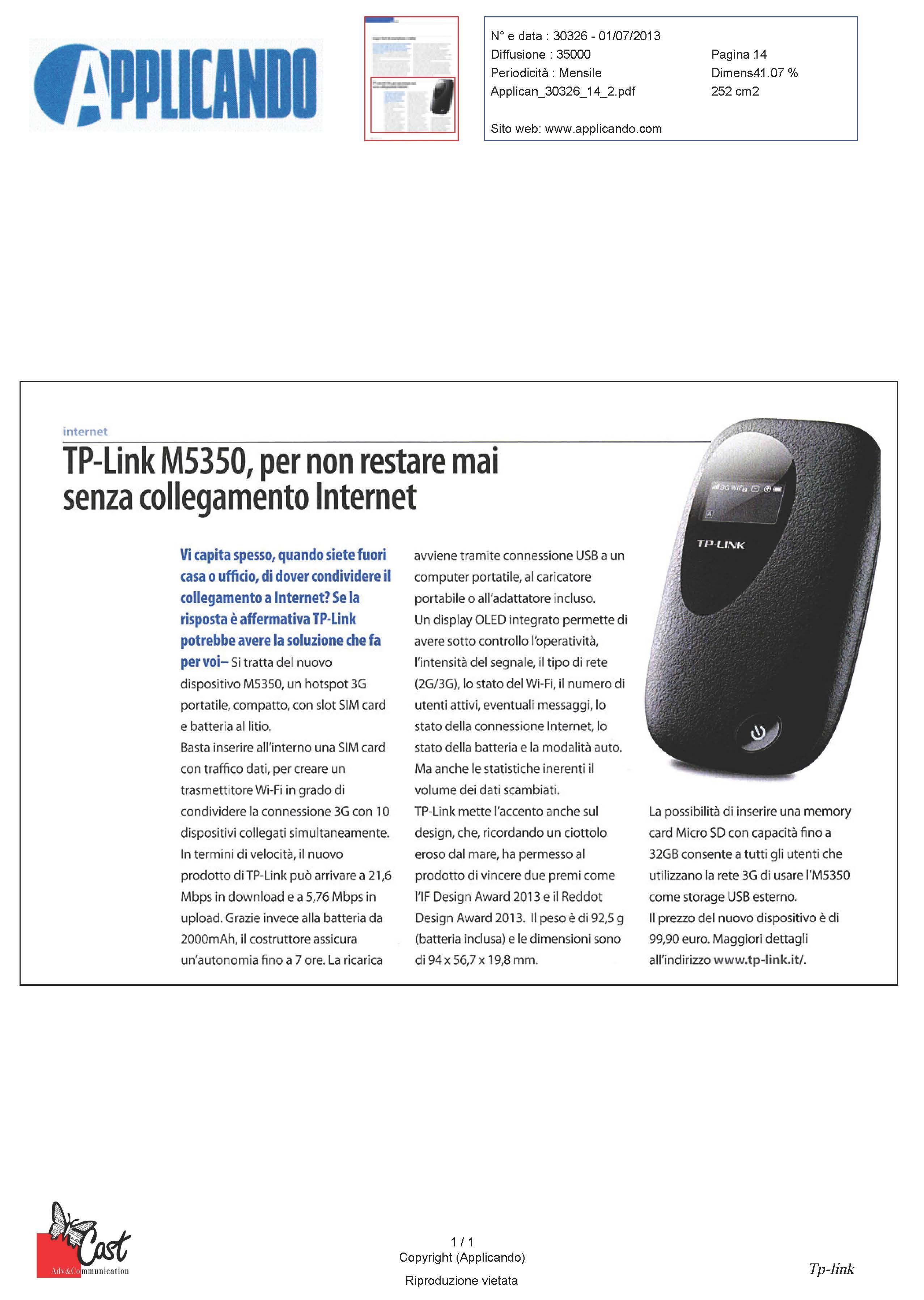 Hotspot 3G TP-LINK M5350: Internet sempre ed ovunque
