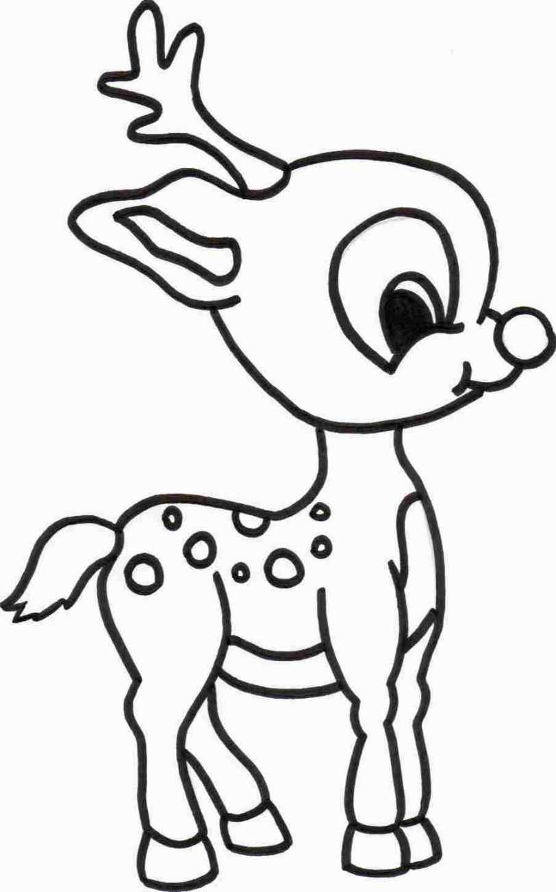Cute Christmas Coloring Pages   Rudolph coloring pages ...