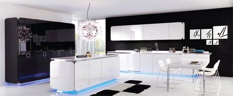 Kitchen Cabinets High Gloss trends: high gloss acrylics - another high-end option for high