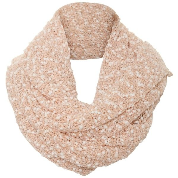 8187c6fc704 A|Wear Peach Bobble Knit Snood (19 BAM) ❤ liked on Polyvore featuring  accessories, scarves, peach and snood scarves