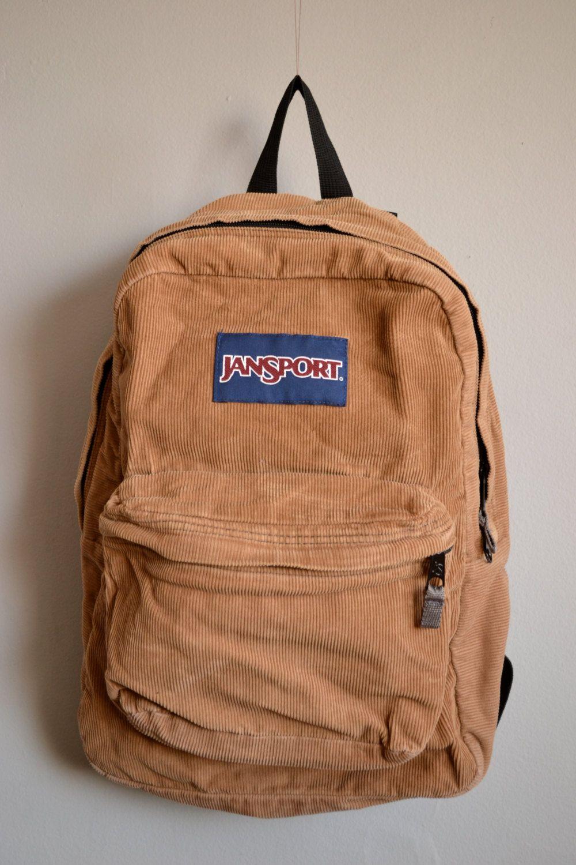 Vintage Tan Corduroy Jansport Backpack Pinterest