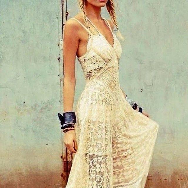 Long dress hippie instagram