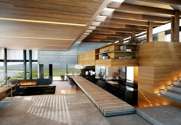 Contemporary House Style On Slopong Road Terrain Modern Wood And