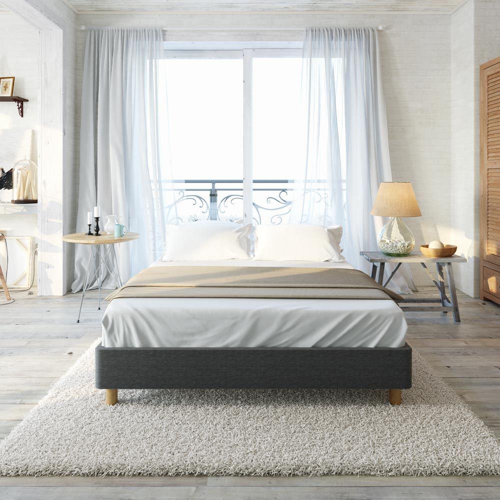 Luxo Froya Scandinavian King Ensemble Bed Base - Charcoal   Bedroom ...