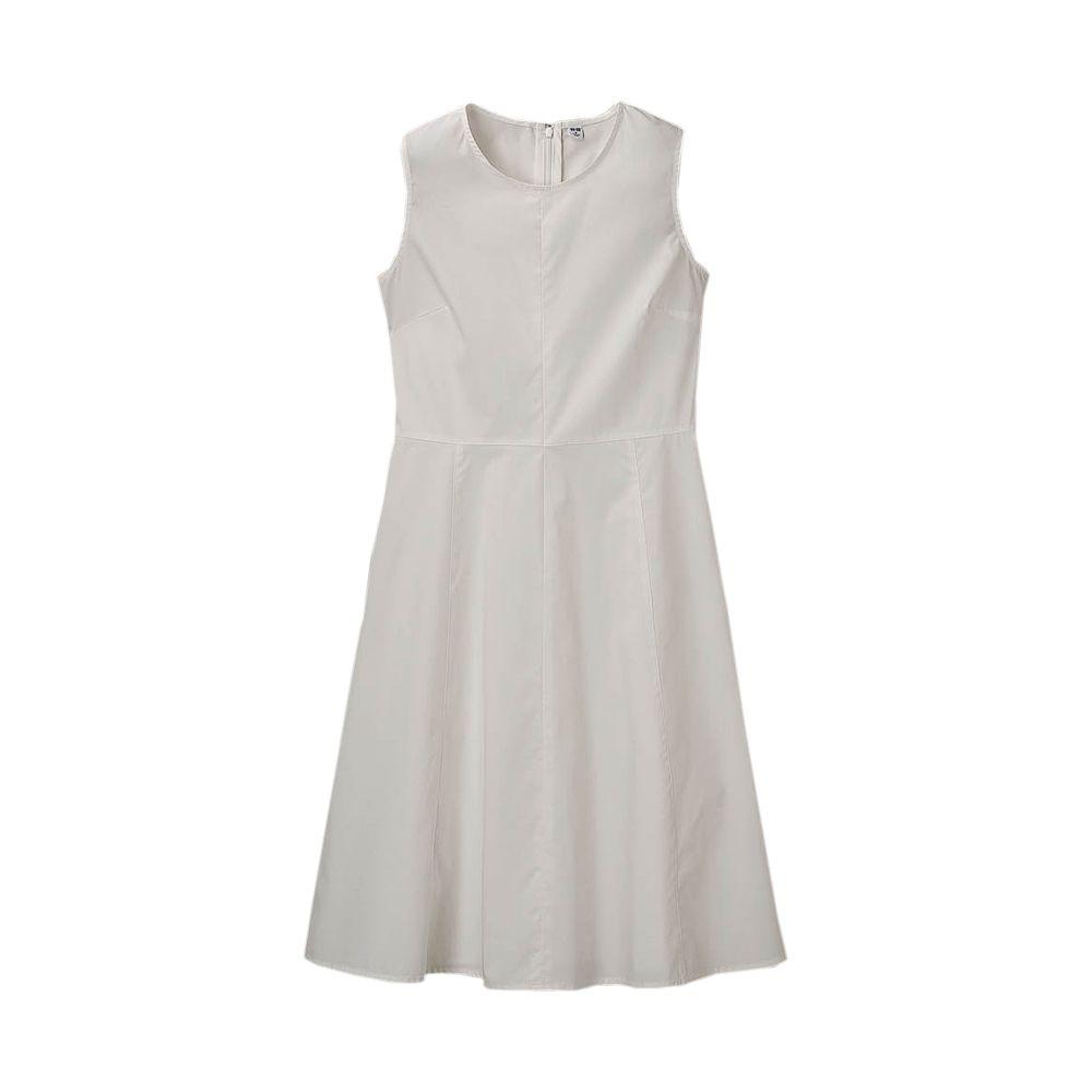 Uniqlo women crisp cotton sleeveless dress fashion pinterest