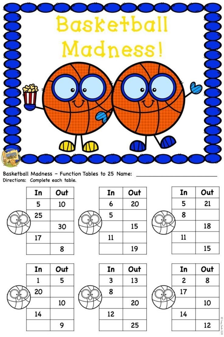 Basketball Madness Math Printables, Clip It, and Task